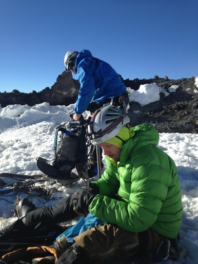 Our brew stop before the final bit to the summit.
